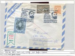 Argentinien - Argentina - Michel 631 + 802 + 647 Auf Brief / Sur Lettre - - Argentinien