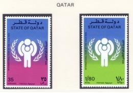 YEAR INTERN. OF CHILD - QATAR  - Mi. Nr. 749/750 - NH - (6532-29.) - Qatar