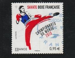 FRANCE 2013 SAVATE BOXE FRANCAISE CHAMPIONATS DU MONDE YT 4831 OBLITERE - - Oblitérés