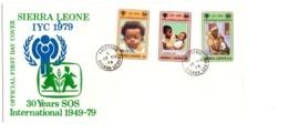 YEAR INTERN. OF CHILD - SIERRA LEONE  - Mi. Nr. 579/580  - FDC - (6532-26.) - Sierra Leone (1961-...)