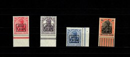 Rumänien 9. Armee, MiNr. 1-4, Postfrisch, Rand, ** - Besetzungen 1914-18
