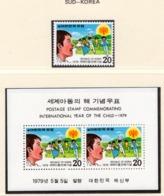 YEAR INTERN. OF CHILD - KOREA DEL SUD - Mi. Nr. 1158 + BF 433  - NH - (6532-30.) - Togo (1960-...)