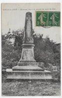 SUILLY LA TOUR - MONUMENT A LA MEMOIRE DES MORTS DE 1870 - CPA VOYAGEE - Frankrijk