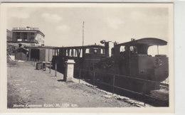 Monte Generose Kulm  - Um 1930  Mit Zug Und Hotel - TI Tessin