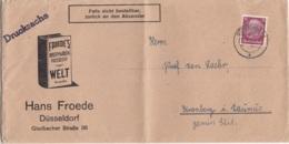 Drucksache Aus DÜSSELDORF Von Einem Briefmarkenhändler? Nach Cronberg I. Taunus / War Gefaltet - Germany