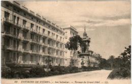 61hst 626 CPA - ENVIRONS DE HYERES - SAN SALVADOUR- TERRASSE DU GRAND HOTEL - Hyeres