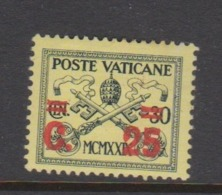 Vatican City S 14 1931 Surcharged 2c On 30c Yellow,mint Hinged - Vatican