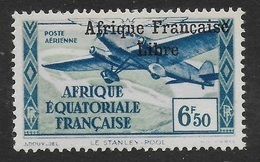 AFRIQUE EQUATORIALE FRANCAISE - AEF - A.E.F. - 1940 - YT PA 18** - VARIETES - A.E.F. (1936-1958)