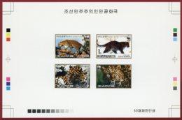 Korea 1998 SC #3784-87, Collective Deluxe Proof, WWF, Leopard - Nuevos