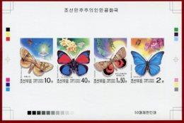 Korea 2002 SC #4225a-d, Collective Deluxe Proof, Butterflies - Papillons
