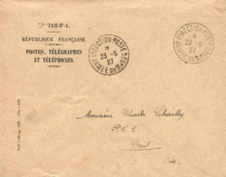 Maroc Morocco Marruecos Marokko Lettre De Service Direction Postes / Armée 1927 Poste Militaire Military Cover RARE ! - Maroc (1891-1956)
