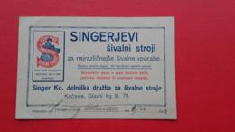 Singer Ko.delniska Druzba Za Sivalne Stroje.Kocevje,Glavni Trg St.79 - Decrees & Laws