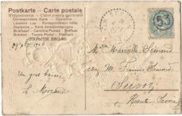 BLANC 5C 53 JOUR DE L'AN CARTE BONNE ANNEE (points De Rouille) CACHET ARRIVEE SERVOZ 4.1.1903 - 1900-29 Blanc