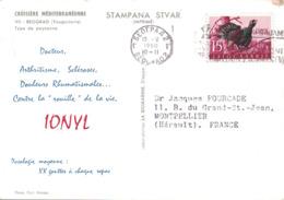 YOUGOSLAVIE - CROISIERE MEDITERRANEENNE - IONYL 1960 - PLASMARINE -  BEOGRAD. - 1945-1992 République Fédérative Populaire De Yougoslavie