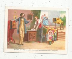 Chromo , 120 X 85 Mm , DAGUERRE Né En 1787 ,mort En 1851 , Découverte Du DAGUERREOTYPE D'ou Dérive La Photographie - Altri