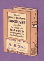 Calendrier Publicitaire Librairie Rigal Chartres 1955 Larousse Illustre - - Petit Format : 1941-60