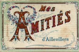 Mes Amitiés D'Aillevillers - Carte En Relief Avec Paillettes - édit VPF - Autres Communes