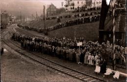 ! Seltene Alte Fotokarte, Ereignis, Wahrscheinlich Empfang Von Adolf Hitler In Thüringen, Eisenbahngleise - Deutschland