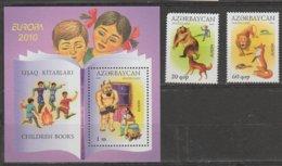 Azezbaidjan Europa 2010 N° 679/ 680 Et BF N° 82 ** Livres Enfants - Europa-CEPT
