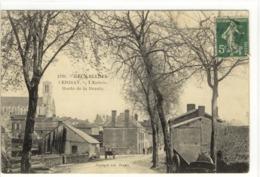 Carte Postale Ancienne Carizay - L'Entrée. Route De La Branle - Cerizay