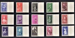 MONACO 1942  - SERIE Y.T. N° 234 A 248  -  15 TP NEUFS** /5 - Unused Stamps