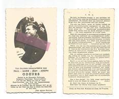 WO 65.  PAUL  ODEURS - Doctor In Klassieke Philologie/Sergeant - °ST-TRUIDEN  1917 / Gevallen Te MELLE (bij GENT) 1940 - Images Religieuses