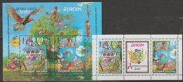 Bulgarie Europa 2010 N° 4250/ 4251 ** Et BF N° 269 ** Livres Enfants - Europa-CEPT