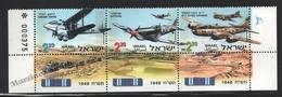 Israel 1998 Yv. 1405-07, War Planes Of The Independence War – Tab - MNH - Israel