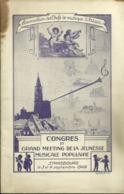 67 STRABOURG PROGRAMME 1949 CONGRES MEETING DE LA JEUNESSE MUSICALE POPULAIRE CHEFS DE MUSIQUE ALSACE - Programma's