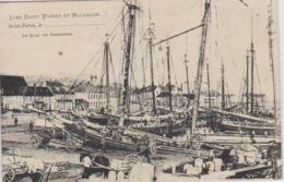 Cpa Miquelon Granville Quai Du Commerce  Morutiers  En Escale A St Pierre Ravitaillement  Et Prise D Appats Brehier N5 - Saint-Pierre-et-Miquelon