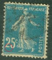 France    140  Ob  TB Papier GC   Avec Pied Du 2  Deformé - France
