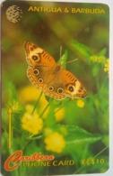 132CATB EC$10 Donkey Eye Butterfly  With Slash - Antigua En Barbuda