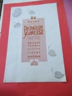 """Film Ancien/grande Plaquette De Luxe Présentation De Film/""""Derniére Jeunesse""""/RAIMU/Delubac/Brasseur/1939         CIN116 - Photographie"""
