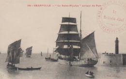 Cpa Granville Miquelon Le St Nicolas Sortant Du Port Peche Morues + Cachet Rouge Train SanitaireN°4 Medecin Chef Puel180 - Granville