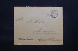 BELGIQUE - Enveloppe De Bruxelles En Franchise Pour Anvers En 1915 Avec Cachet De Contrôle - L 43074 - Guerre 14-18