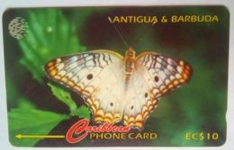 132CATA EC$10 Ten Eye Butterfly With Slash Rev - Antigua En Barbuda