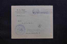 BELGIQUE - Enveloppe De Anvers En Franchise Pour Anvers En 1918 Avec Cachet De Contrôle - L 43077 - WW I