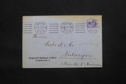 ALLEMAGNE - Enveloppe Commerciale De Hamburg Pour Anvers En 1916 Avec Cachet De Contrôle Au Dos, Affr. Perforé - L 43079 - Germany