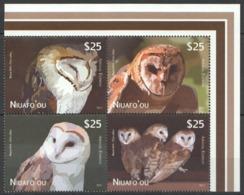 VV322 2012 NIUAFO'OU FAUNA BIRDS OWLS 1SET !!! MICHEL 110 EURO MNH - Eulenvögel