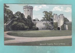 Small Post Card Of Tower And Keep,Warwick Castle,Warwickshire,S83. - Warwick