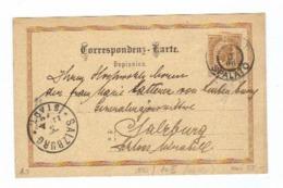 Österreich, 1906, Corr.karte Mit Eingedr. 2Kreuzer Frankatur Von Spalato Nach Salzburg, Mit Beiden Ortsstempeln (11634W) - Stamped Stationery
