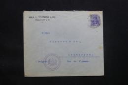 ALLEMAGNE - Enveloppe Commerciale De Frankfurt Pour Anvers En 1915 Avec Cachet De Contrôle - L 43082 - Brieven En Documenten