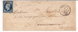 Lettre 1854 Orange Drôme Lourmarin Vaucluse Goulin - 1853-1860 Napoleon III