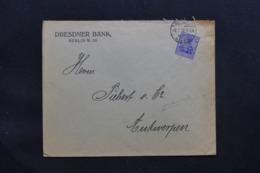 ALLEMAGNE - Enveloppe Commerciale De Berlin Pour Anvers En 1915 Avec Cachet De Contrôle, Affr. Perforé - L 43084 - Germany