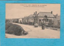 Circuit De La Sarthe, 1906. - La Sortie De La Passerelle De Saint-Calais. - Saint Calais