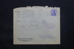ALLEMAGNE - Enveloppe Commerciale De Hamburg En 1915 Avec Cachet De Contrôle, Affranchissement Perforé - L 43087 - Covers & Documents