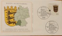 Germany FDC 1992 Baden - Würtenberg - FDC: Sobres