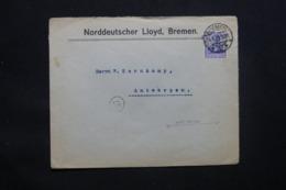 ALLEMAGNE - Enveloppe Commerciale De Bremen Pour Anvers En 1918 Avec Cachet De Contrôle , Timbre Perforé- L 43091 - Allemagne