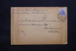 ALLEMAGNE - Enveloppe Pour Anvers En 1918 Avec Cachet De Contrôle , Oblitération Plaisante Feldpost - L 43092 - Germany