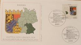 Germany FDC Bayern Wappen - FDC: Sobres